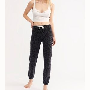 New Free People Monrow Leopard Sweats Sweatpants
